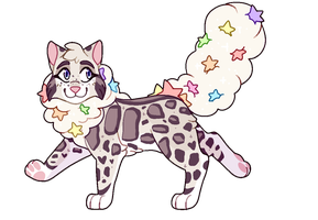 Clouded Leopard // Auction // CLOSED by catpaths