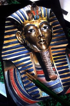 Tutankhamun's Mask by Lauryn-M