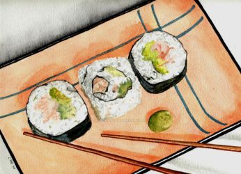 Sushi Plate 2 by theancientofdays