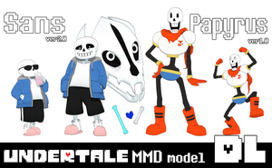 [MMD]Undertale Sans ver2.0 and Papyrus ver1.0 DL by Yukanuntiusel