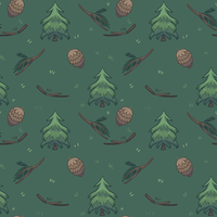 Forest pattern by FlSHB0NES