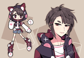 closed | Cat hoodie adoptable (Auction) by Sekuchi