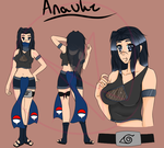 .:NARUTO:. Anauke new design by PheonixSky99