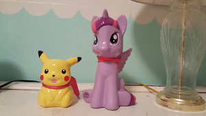 My Twilight Sparkle And Pikachu Coin Banks by pokemonlpsfan