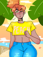 Peachy Jemie by KarlaArts