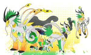 [c] Qilin Digimon by glitchgoat