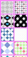 Argyle Pattern Set by krystalamber2009