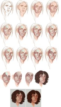 Process -- Painting a Face by dr-runcible