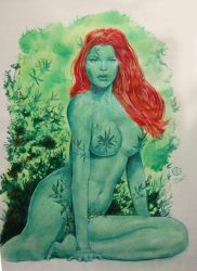 Poison Ivy Color pin-up by jfife