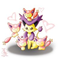 Mama Delcatty and Her Baby Skitty