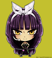 Kagura_cyber outfit_chibi_commission by Enara123