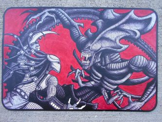 Aliens VS Predator Mouse pad by Jagarnot