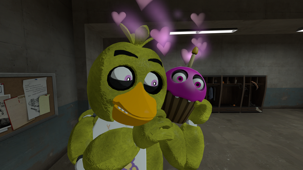 Chica and Cupcake  by AngryMordReturns