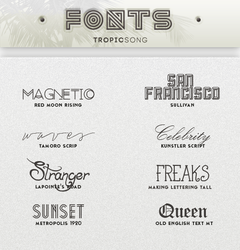New Fonts [ #3 PACK ] by tropicsong