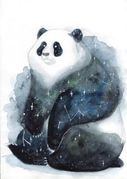 Galaxy Panda by ThreeLeaves