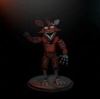 Wip Withered Foxy Cinema 4d By Herogollum On Deviantart