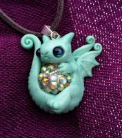 little pouty dragon baby necklace by carmendee