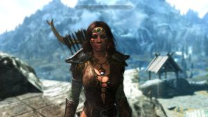 Skyrim: Ranger at the Ready by LordXarnor
