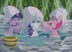 MLP Twilihgt and rarity and pinkypie  in spa