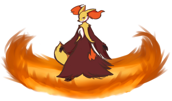 That Delphox by MewgletheWolf