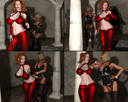 BlackRaven and Miss Domina. Trapped by DreamCandice