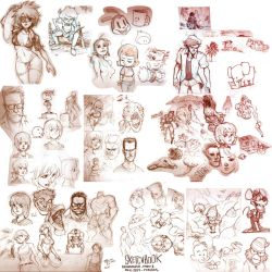 Sketchbook Bonanza 2015 part 1 by Padder