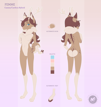 Character Reference - Femme by Obakawaii
