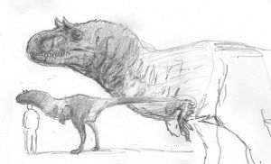 African Paratyrannosaur by povorot