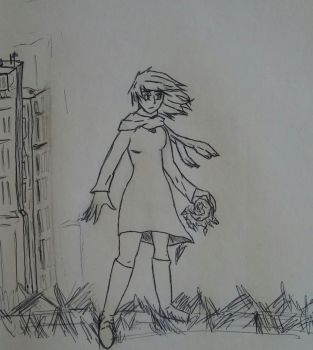 Clover and a city by Grassman101