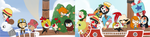 One Piece bookmarks by OMGProductions