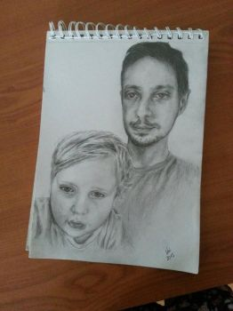 Portrait father and son  by Mrs-Industrial