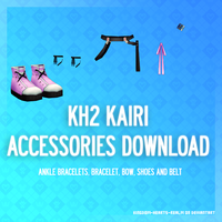 KH2 Kairi's accessories - DL by SnowEmbrace