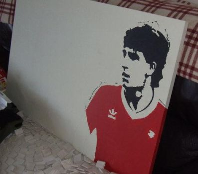 Norman Whiteside unfinished by ElephantStoned