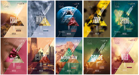 10 Hispter Psd Flyer Template / Awesome Pack