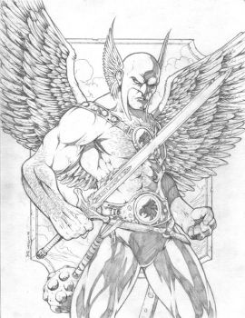 Hawkman by Jeff Welborn by GoldenGoatStudios