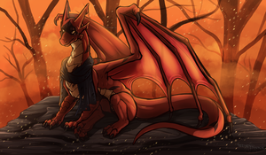 Commission : Among the Embers by WeirdHyenas