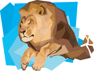 Lion Leap Vector by TheEvisceration