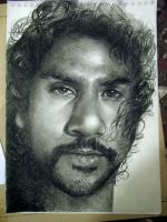 Naveen Andrews - almost done.. by th3blackhalo