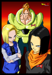 ANDROIDS C-16,C-17 AND C-18 by PhazeN1