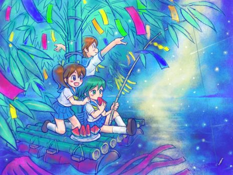 Tanabata Sailors by oi-chan