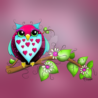 Owl Loves A Lot by concettasdesigns