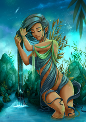 The water-bearer : Aquarius by Lily-Fu