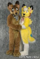 Skuff and Lucky Coyote by Blonde-Foxy