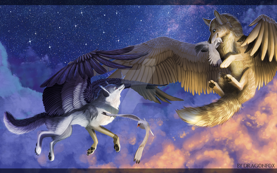 Catch me if you can! by DragonFoxAdopts