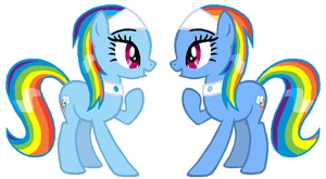 Rainbow Twins by Durpy