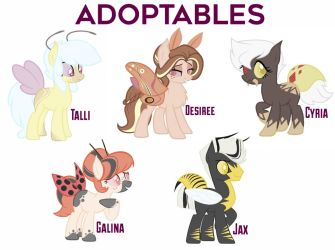 MLP Insect Adoptables! (CLOSED) by froggsalt