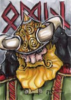 Odin Sketch Card - Matthew J Fletcher by Pernastudios