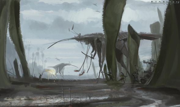 Northern Nomads - marshland border by Kiabugboy