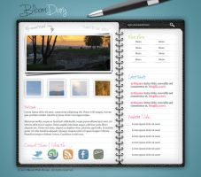 Diary/Journal Web Layout in Photoshop by AinsleyB