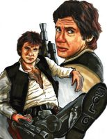 Star Wars Classic Han Solo by KwongBee-Arts